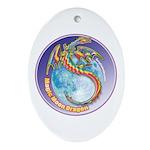 Magic Moon Dragon Ornament (Oval)