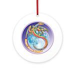 Magic Moon Dragon Ornament (Round)