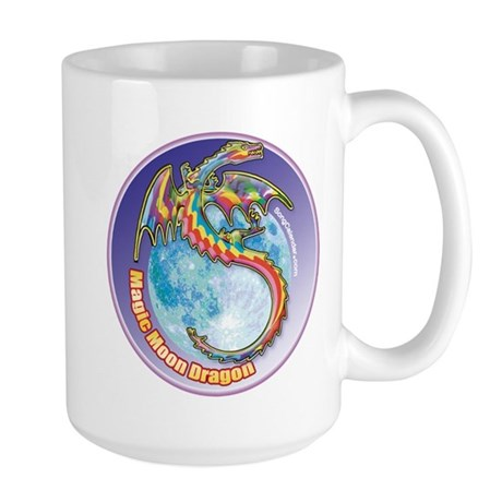 Magic Moon Dragon Large Mug