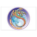 Magic Moon Dragon Large Poster