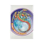 Magic Moon Dragon Rectangle Magnet (10 pack)