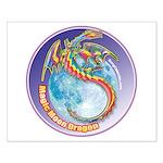 Magic Moon Dragon Small Poster