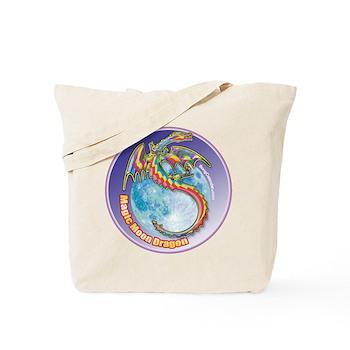 Magic Moon Dragon Tote Bag