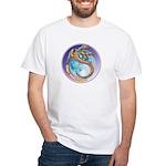 Magic Moon Dragon White T-Shirt