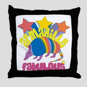 Armadillo Fabulous Throw Pillow