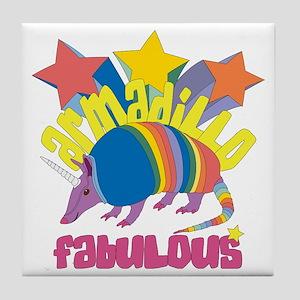 Armadillo Fabulous Tile Coaster