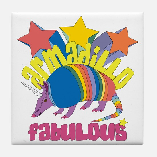 Armadillo Fabulous Tile Coaster