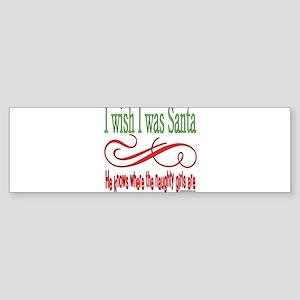 NaughtygirlsSantaGirlsStextround copy Sticker