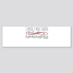 NaughtygirlsSantaBOYStextwhite copy Sticker (B
