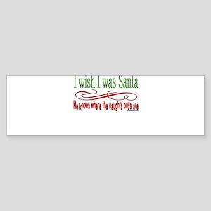 NaughtygirlsSantaBOYStext copy Sticker (Bumper