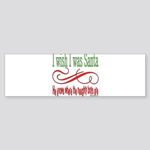 NaughtygirlsSantaBoysStextround copy Sticker (
