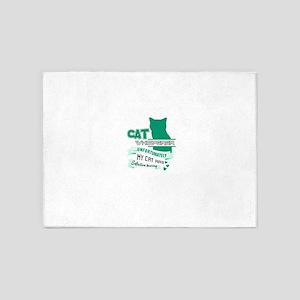 Cat Design 5'x7'Area Rug