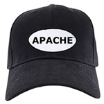 Apache Black Cap (white patch, black lettering)