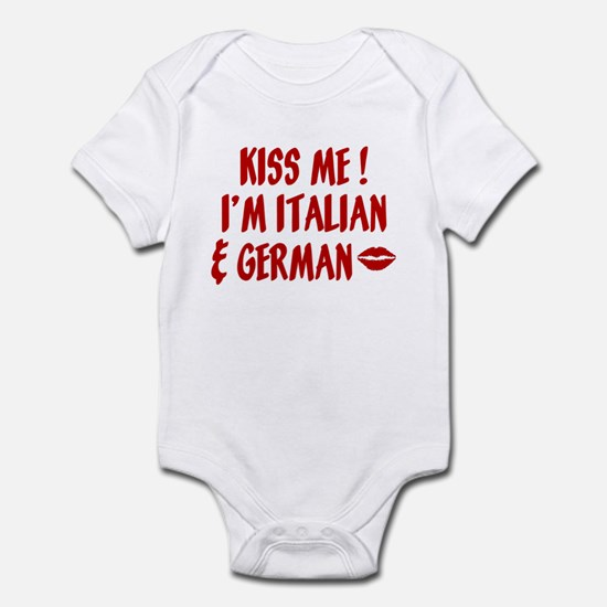 Kiss Me: German & Italian Infant Bodysuit