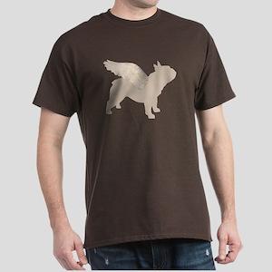 Angel Frenchie Dog Dark T-Shirt