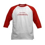 Blame others? Management Pote Kids Baseball Jersey