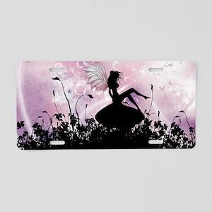 Fairy Silhouette Aluminum License Plate