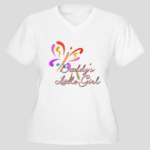 Daddy's Little Gi Women's Plus Size V-Neck T-Shirt