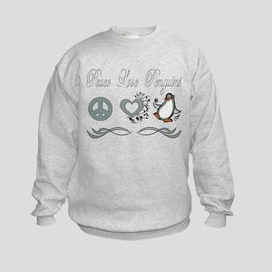 Peace love poker Kids Sweatshirt