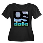 OSdata Women's Plus Size Scoop Neck Dark T-Shirt