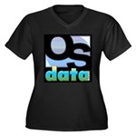 OSdata Women's Plus Size V-Neck Dark T-Shirt
