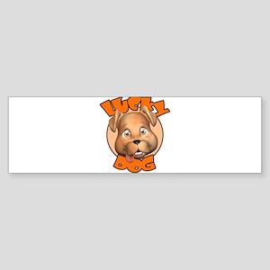 10x10_apparel l lucky dog12 copy Sticker (Bump