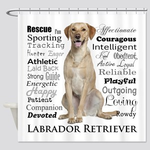Labrador Traits Shower Curtain