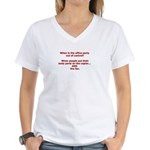 OUT OF CONTROL Women's V-Neck T-Shirt