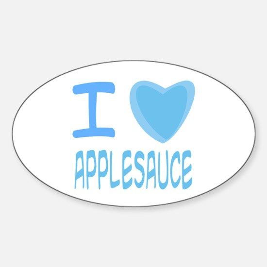 Blue I Heart (Love) Applesauce Oval Decal