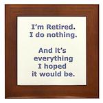 Retirement Framed Tile