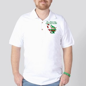 10x10_apparel bigcandycane copy Golf Shirt