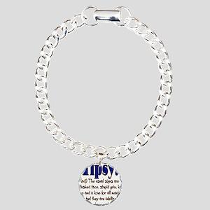 10x10_apparel tipsy copy Charm Bracelet, One C