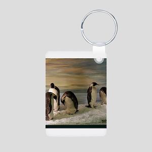 Penguins Aluminum Photo Keychain