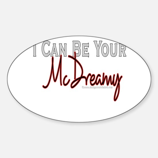 10x10_apparel mcdreamy copy.jpg Sticker (Oval)