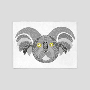 Australian Aboriginal Art - Koala D 5'x7'Area Rug