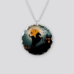 Headless Horseman Necklace Circle Charm