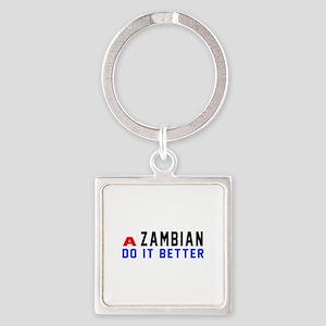 Zambian It Better Designs Square Keychain