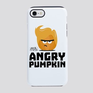 Angry Pumpkin Guy Funny iPhone 7 Tough Case