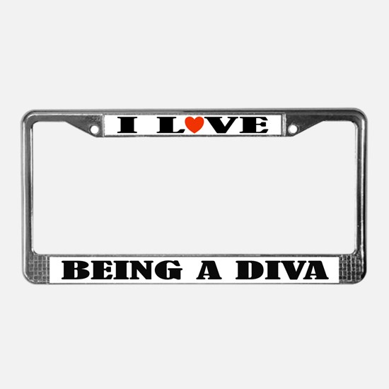 Funny Diva Music License Plate Frame
