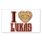 10x10_apparel troublelukasgold copy Sticker (R