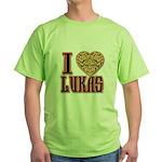 10x10_apparel troublelukasgold copy Green T-Sh