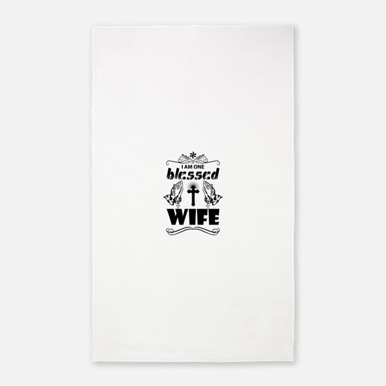 I Am One Blessed Wife Area Rug