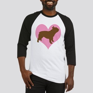 french bulldog & heart Baseball Jersey
