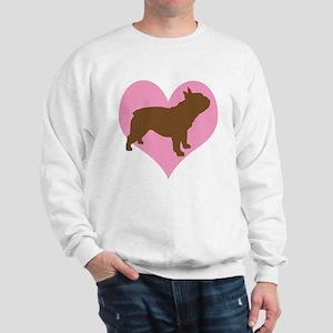 french bulldog & heart Sweatshirt
