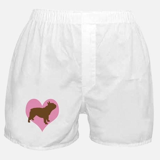 french bulldog & heart Boxer Shorts