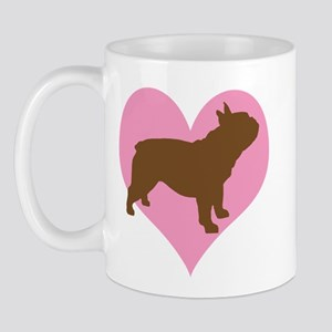 french bulldog & heart Mug
