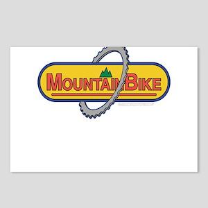 10x10_apparel mountainbike copy Postcards (Pac
