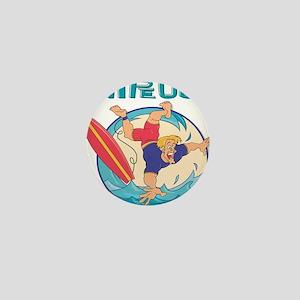10x10_apparel surferwipeout copy Mini Button