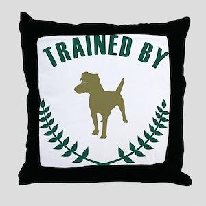 Patterdale Terrier Throw Pillow