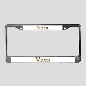 Vera Bright Flowers License Plate Frame